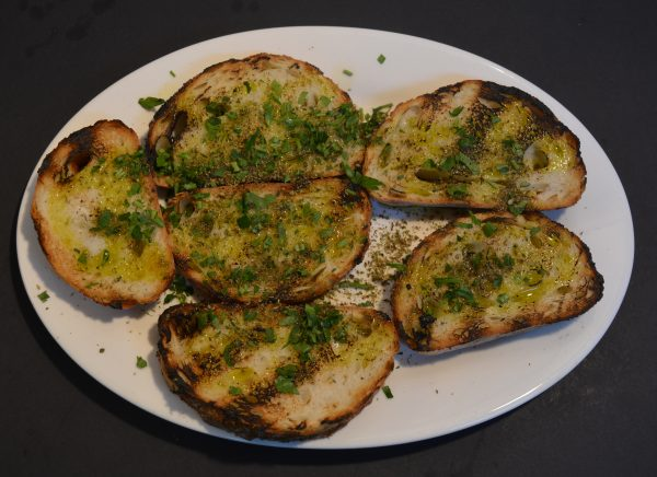Bread with Olive Oil and Oregano.