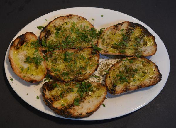 Bread with Olive Oil and Oregano.