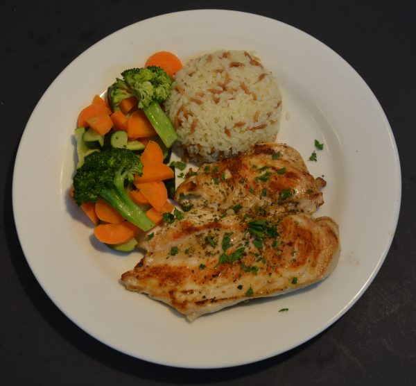 Chicken fillet rizotto veggies