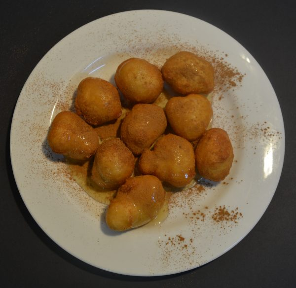 Loukoumades - Honey balls donuts with honey and cinnamon