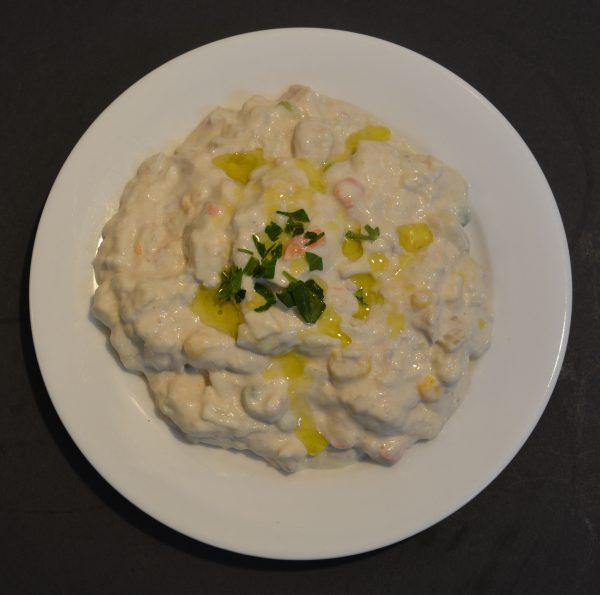Home made Tuna salad with mayonnaise.