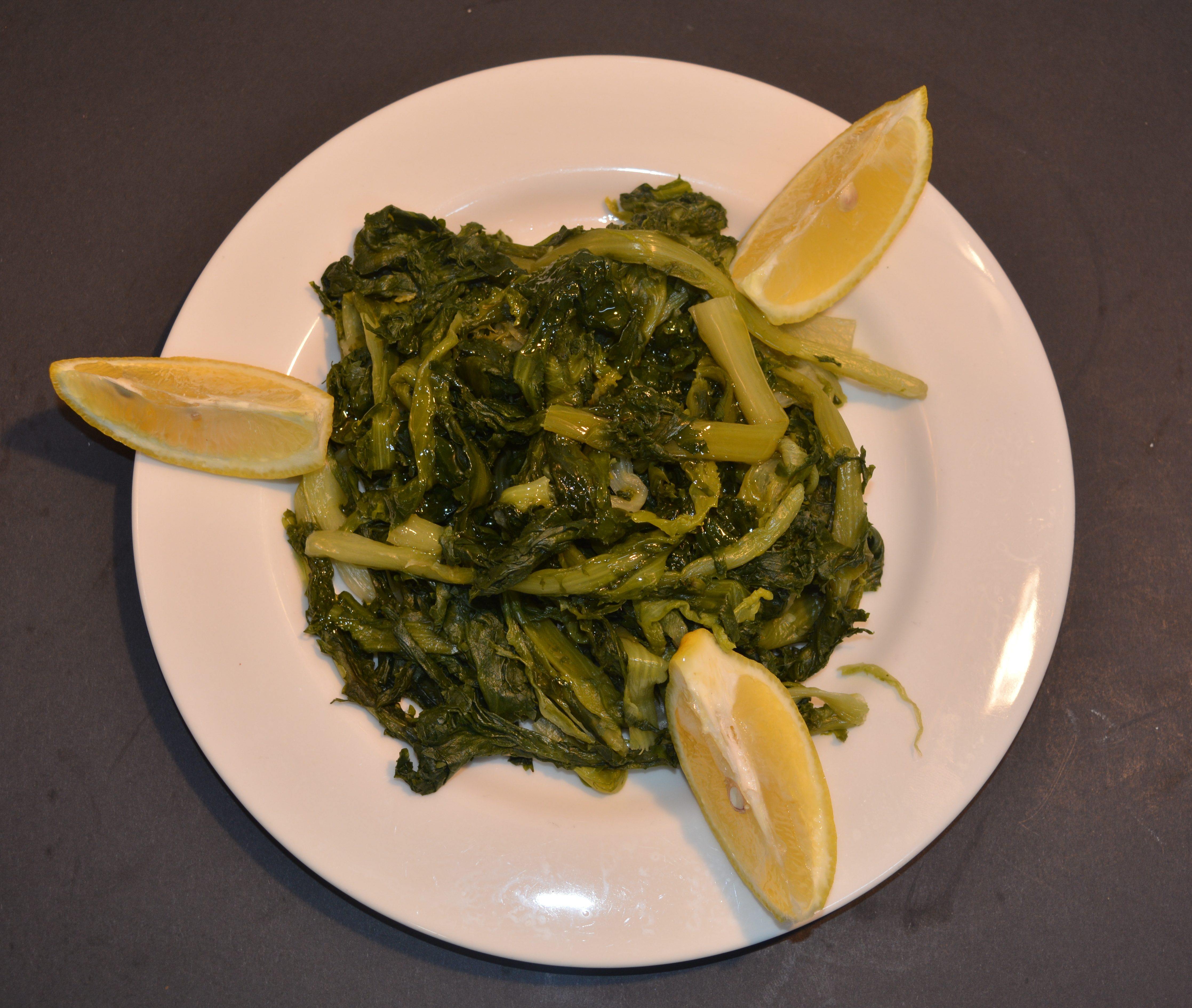 Horta - Endive Greens with olive oil and lemon.